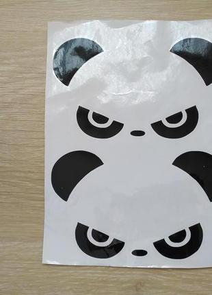 Наклейки на авто Панда Черная на зеркала заднего вида