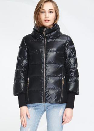 M /44-46 стильный короткий очень легкий теплый пуховик  куртка...