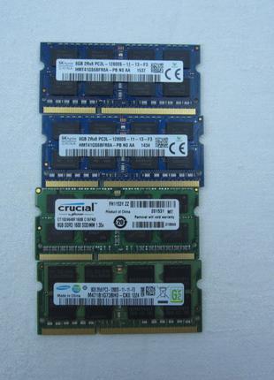 Оперативная память SODIMM DDR3 DDR3L 8 gb для ноутбука 1600 MHz