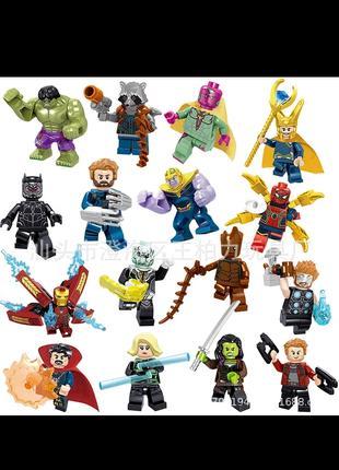 Лего фигурки мстители Bela, Китай, 16шт. совместимы с лего