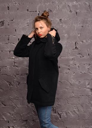 Зимняя женская кашемировая парка пальто бежевая, синяя, черная
