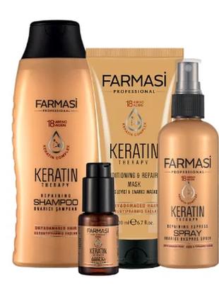 Кератиновая серия для волос farmasi keratin therapy