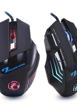 Игровая мышь Imice X7 USB 5500DPI LED Черная