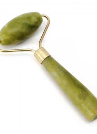 Массажер нефритовый валик с ручкой (11х5,5х2 см)
