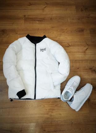 Демисезонная теплая женская двостороння куртка everlast оригин...