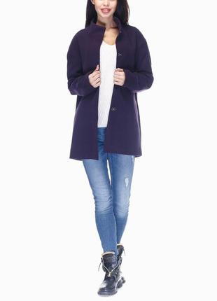 В наличии - деми-пальто с воротником-стойкой *blue motion* м-4...