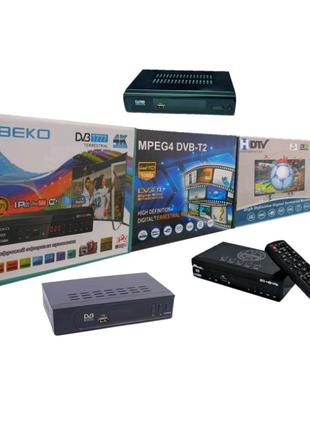 Цифровая приставка DVB-T2 (T2, USB, пульт)