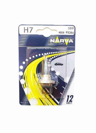 Лампа накаливания H7 12V 55W PX26d (пр-во Narva) 48328B1