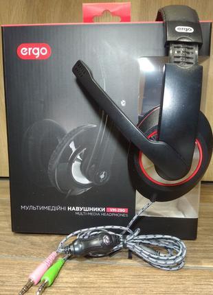 Навушники  ERGO VM-290 чорні