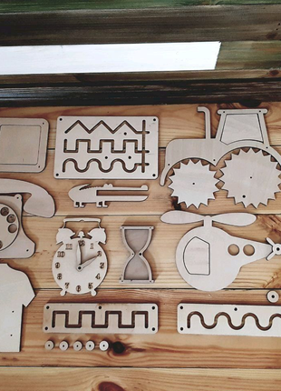 Заготовки для бизиборда, бизикуба, бизиборд конструктор, игрушки