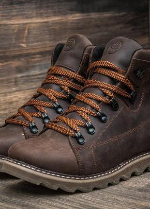 Зимние кожаные ботинки на натуральном меху Caterpillar