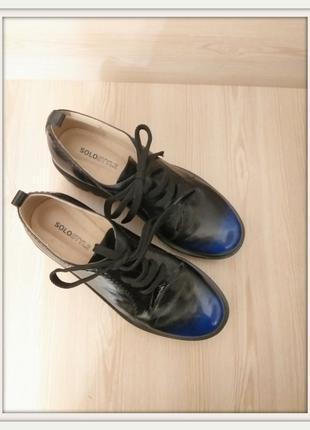 Трендовые полуботинки / туфли на платформе solostyle