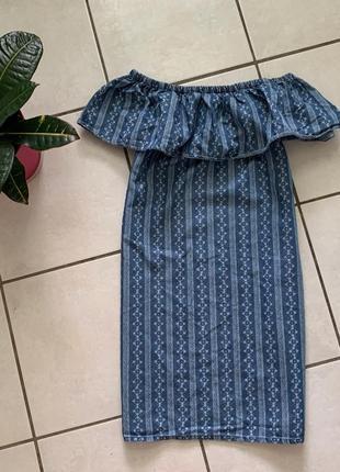 Платье сарафан с открытыми плечами