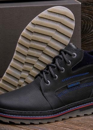 Мужские зимние кожаные ботинки на натуральном меху walker