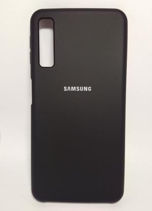 Задня накладка Samsung A750 Silicone Cover Black