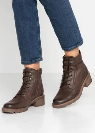 Кожаные зимние ботинки pier one, размер 39