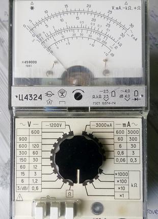 Комбинированный измерительный прибор Ц4324 (тестер)