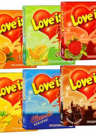 Презервативы Love is ароматизированные ПРЕМИУМ класс 3 шт.