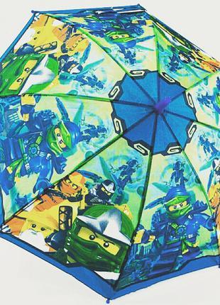 Зонт для мальчика ниндзяго ninjago 4-8 лет
