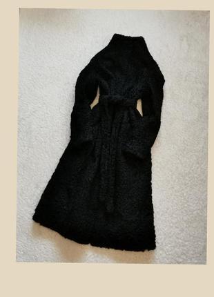 Винтажная шуба каракуль с утеплителем шуба миди пальто каракуль