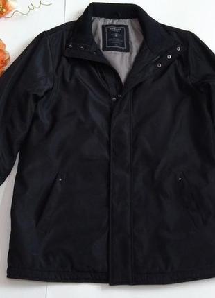 Черная утепленная куртка весна - осень размер 48