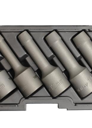 Экстракторы для выкручивания болтов под трещотку 1/2'' Yato YT-06