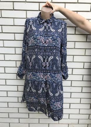Платье рубашка,халат на застежке,штапельное,вискоза,принт огур...