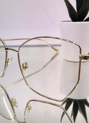 Стильные имиджевые очки с компьютерной защитой