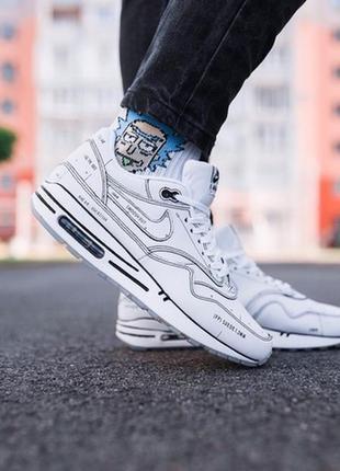 Мужские кроссовки найк nike air max 98 white белые демисезонные.