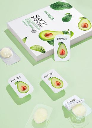 Ночная маска для лица bioaqua avocado с экстрактом авокадо 5г/...