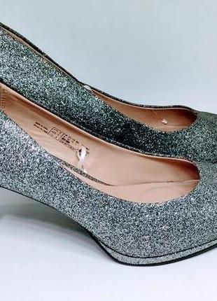 Серебряные туфли 42 размер