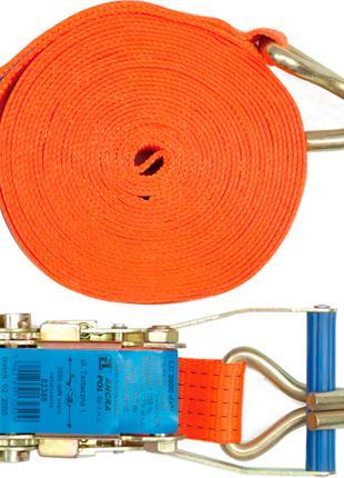 Ремень для крепления багажа с трещоткой 10 метров х 50мм Vorel 82