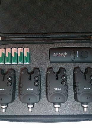 Набор сигнализаторов 4+1 пейджер WEIDA в кейсе (WD 02)