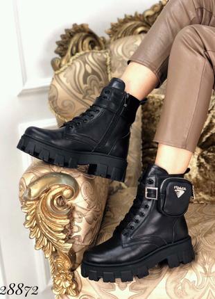 Ботинки зимние PRADA кожа 36-40