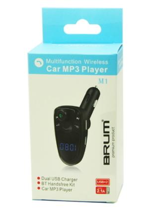 Автомобильный FM модулятор M1 с Bluetooth и MP3, AUX