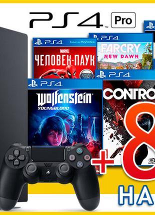 Sony PlayStation 4 Pro + 8 игр на Ваш выбор Control PS4 Pro