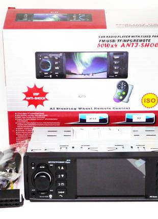 Магнитола Pioneer 4219 ISO  - экран 4,1''+ DIVX + MP3 + USB + SD