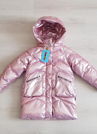 Пуховик зима девочка Donilo 5744А, размер 134-152
