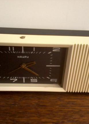 Часы – будильник «НАИРИ» с мелодией, ЕЗХЧ, СССР, 60-е годы.