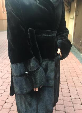 Норковая черная шуба
