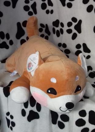 Плед с подушкой собачка лайка
