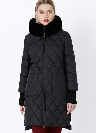 56 (5xl) роскошный качественный зимний пуховик пальто био-пух ...