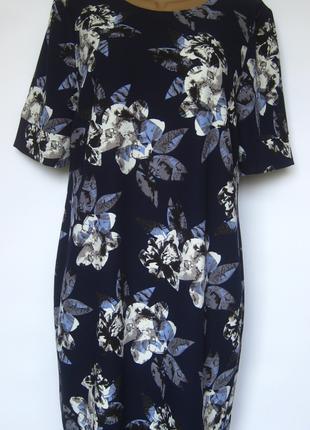 Платье в цветочный принт david emanuel