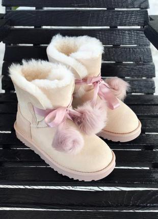 Ugg gita powder женские зимние сапоги бежевые