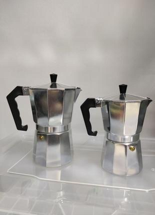 Кофеварка гейзерная гейзер алюминиевая