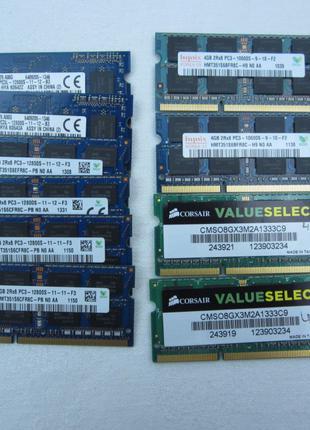 Оперативная память SODIMM DDR3 DDR3L 4 gb для ноутбука 1600 MHz