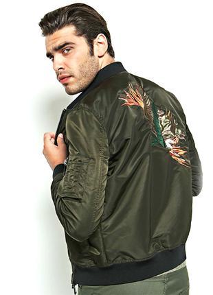 Бомбер Marciano Guess USA р L 48 куртка пилот с вышивкой