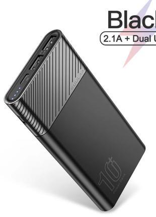 Оригинал 10000 mAh Power Bank KUULAA 2 USB Black Повербанк бат...