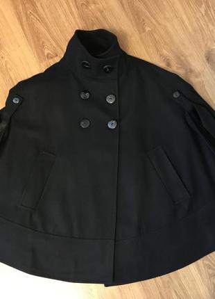 Пальто-пончо zara. отличный состав.