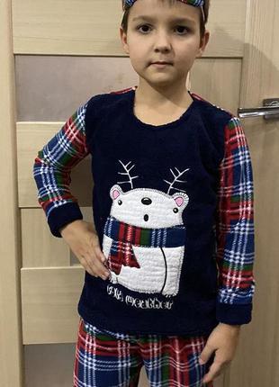 Пижама детская мальчику махра+флисс с мишкой супер качество от...